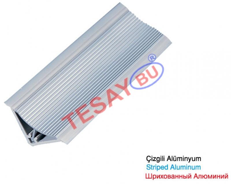 Tİ-14 / 30X30 Çizgili Alüminyum Süpürgelik