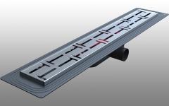 DSTSY4030 - Dekoratif Duş Kanalı Paslanmaz 40 cm - Satine Mat