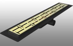 DSTSY3020 - Dekoratif Duş Kanalı Paslanmaz 30 cm - Ayna Sarı